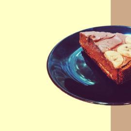 Сливочно-шоколадный банановый пирог